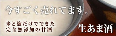 今すごく売れてます。米と麹だけでできた完全無添加の甘酒生あま酒