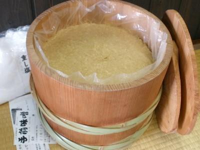 手前味噌 昭和本樽8kg No.12(柿渋仕上げ)
