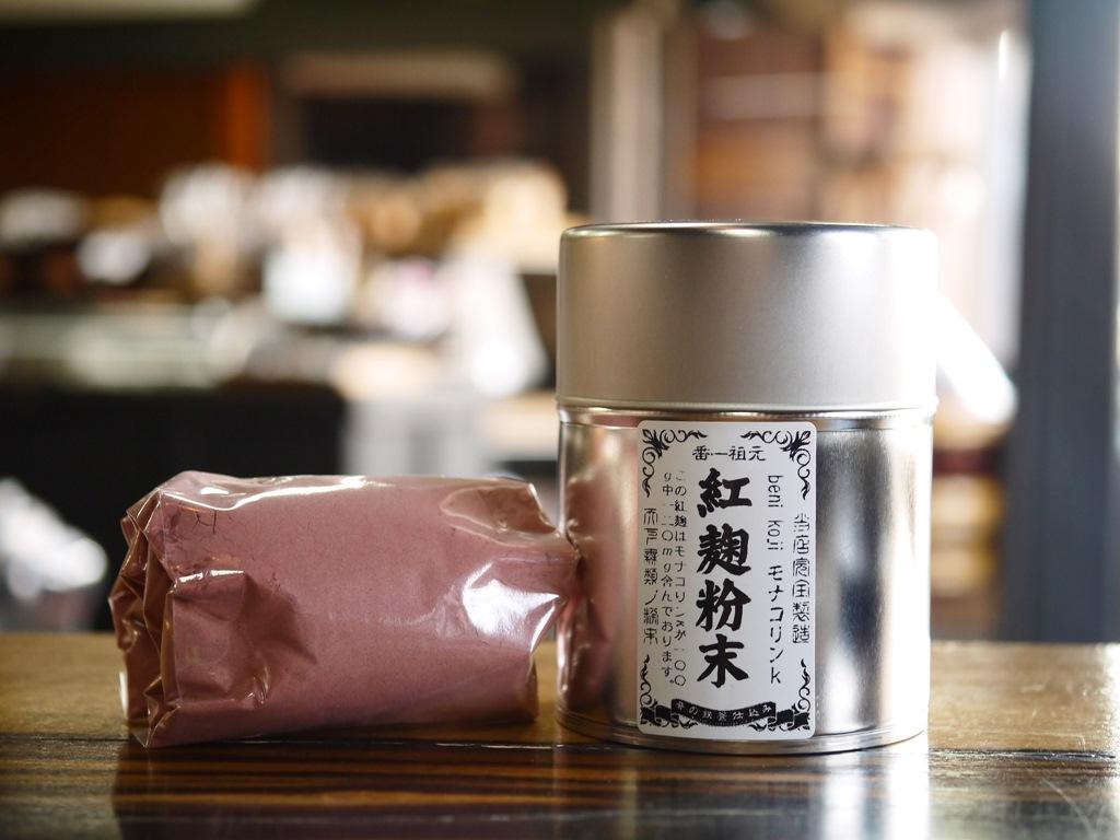 紅麹粉末 モナコリンK(100gブリキ缶 スプーン2種付)