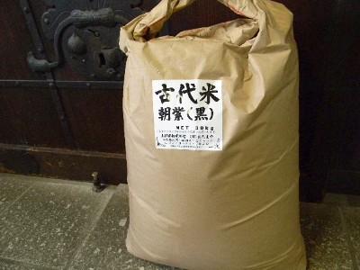古代米 黒もち米 朝紫(30kg)
