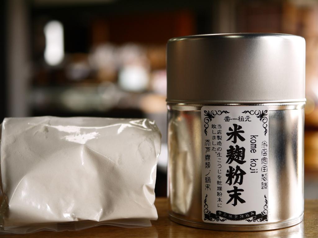 米麹粉末(100gブリキ缶 スプーン2種付)