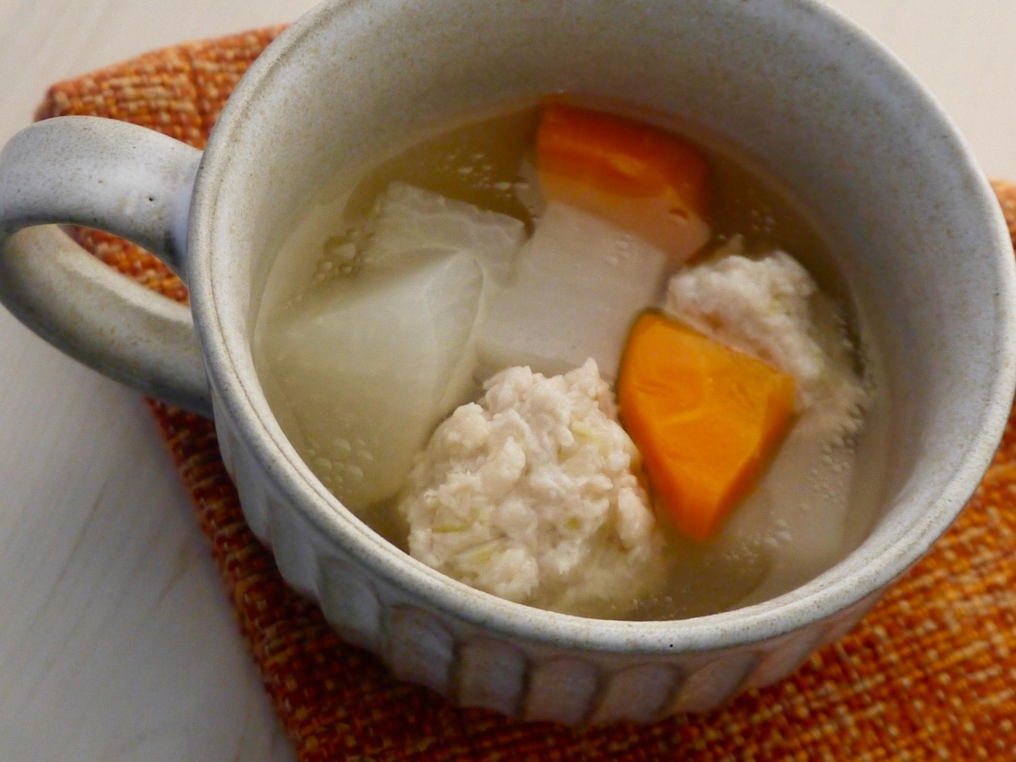 ゆず麴つみれのスープ