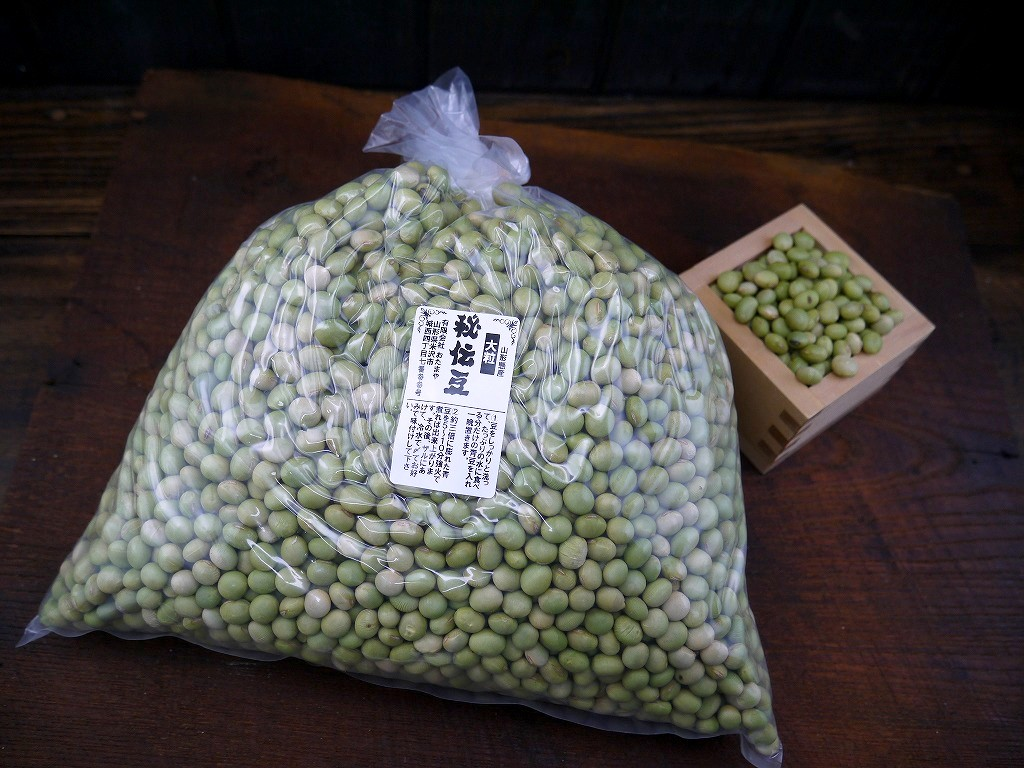 秘伝豆 大粒(3kg)青大豆
