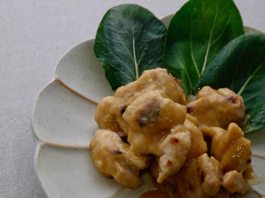焼き鶏の甘麹と味噌の発酵だれ
