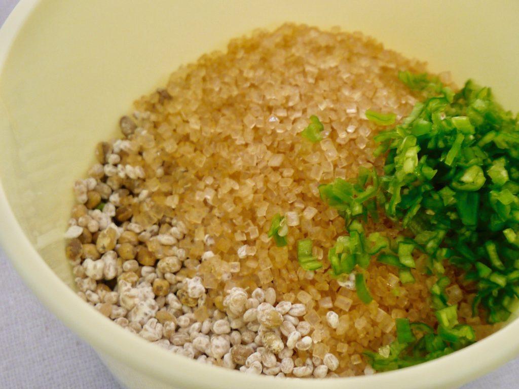 大豆麹と大麦麹のもろみ味噌