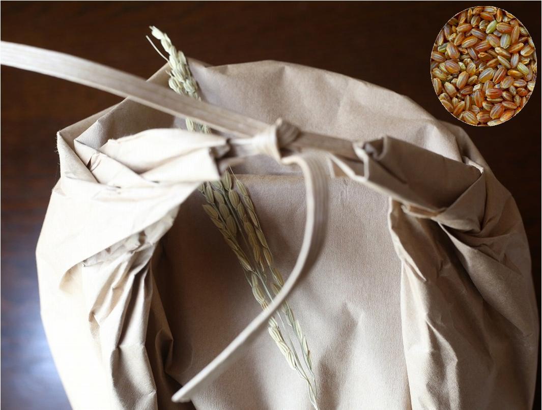 古代米 無農薬 有機肥料 赤うるち米 紅ロマン(30kg)