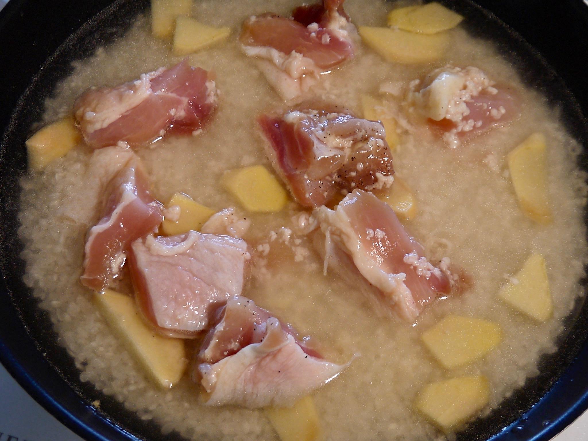 塩麹どりの炊きこみ飯